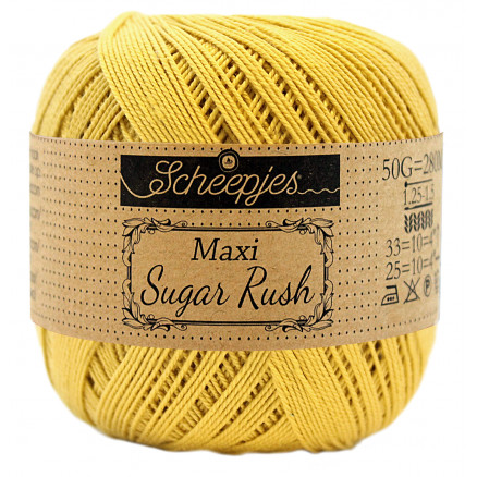Image of   Scheepjes Maxi Sugar Rush Garn Unicolor 154 Gold