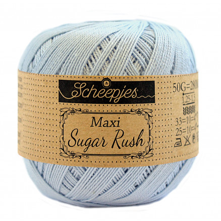 Image of   Scheepjes Maxi Sugar Rush Garn Unicolor 173 Bluebell