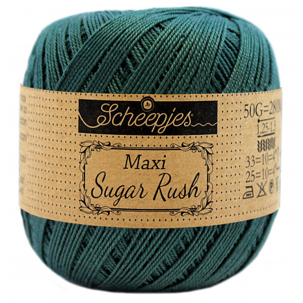 Image of   Scheepjes Maxi Sugar Rush Garn Unicolor 244 Spruce