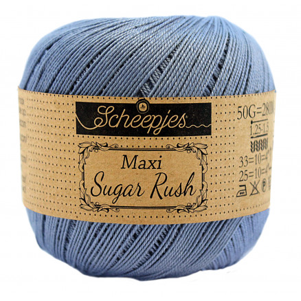 Image of   Scheepjes Maxi Sugar Rush Garn Unicolor 247 Bluebird