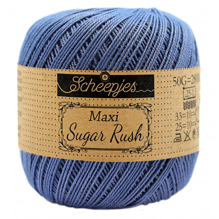 Image of   Scheepjes Maxi Sugar Rush Garn Unicolor 261 Capri Blue