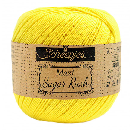 Image of   Scheepjes Maxi Sugar Rush Garn Unicolor 280 Lemon
