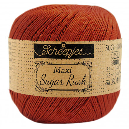 Image of   Scheepjes Maxi Sugar Rush Garn Unicolor 388 Rust
