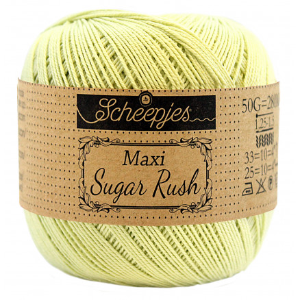 Scheepjes Maxi Sugar Rush Garn Unicolor 392 Lime Juice thumbnail