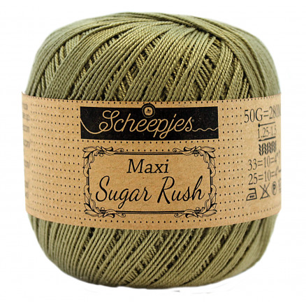 Image of   Scheepjes Maxi Sugar Rush Garn Unicolor 395 Willow