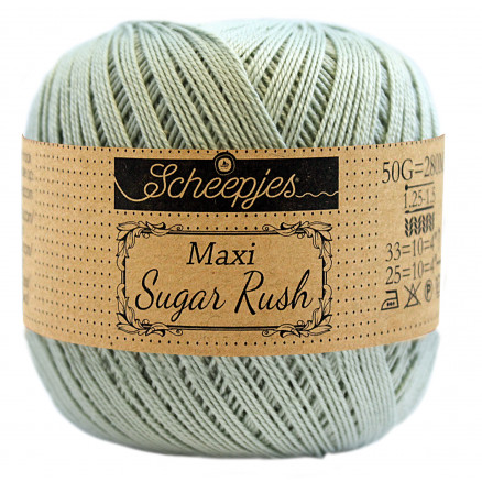 Image of   Scheepjes Maxi Sugar Rush Garn Unicolor 402 Silver Green