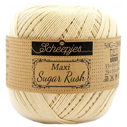 Image of   Scheepjes Maxi Sugar Rush Garn Unicolor 404 English Tea