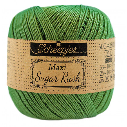 Scheepjes Maxi Sugar Rush Garn Unicolor 412 Forest Green thumbnail