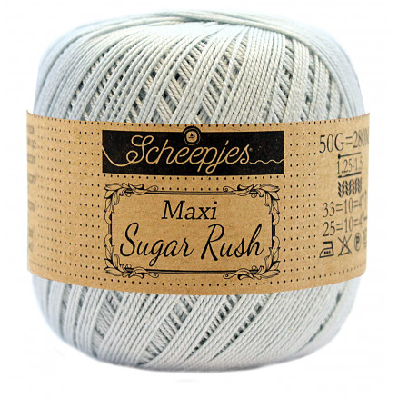 Image of   Scheepjes Maxi Sugar Rush Garn Unicolor 509 Baby Blue
