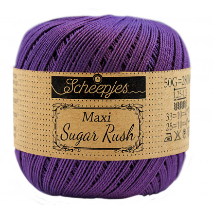 Image of   Scheepjes Maxi Sugar Rush Garn Unicolor 521 Deep Violet