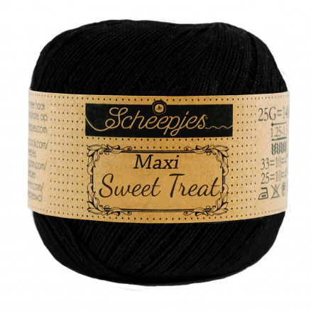 Image of   Scheepjes Maxi Sweet Treat Garn Unicolor 110 Black