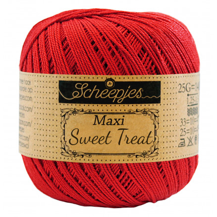 Image of   Scheepjes Maxi Sweet Treat Garn Unicolor 115 Hot Red