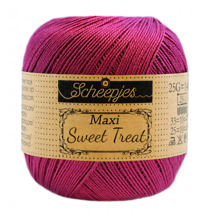 Image of   Scheepjes Maxi Sweet Treat Garn Unicolor 128 Tyrian Purple