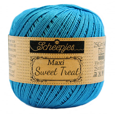 Image of   Scheepjes Maxi Sweet Treat Garn Unicolor 146 Vivid Blue