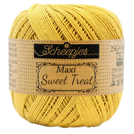 Image of   Scheepjes Maxi Sweet Treat Garn Unicolor 154 Gold
