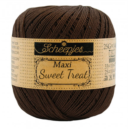 Image of   Scheepjes Maxi Sweet Treat Garn Unicolor 162 Black Coffee