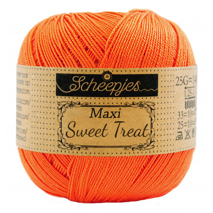 Image of   Scheepjes Maxi Sweet Treat Garn Unicolor 189 Royal Orange