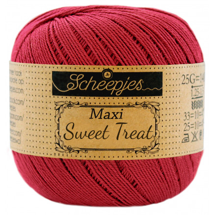 Image of   Scheepjes Maxi Sweet Treat Garn Unicolor 192 Scarlet