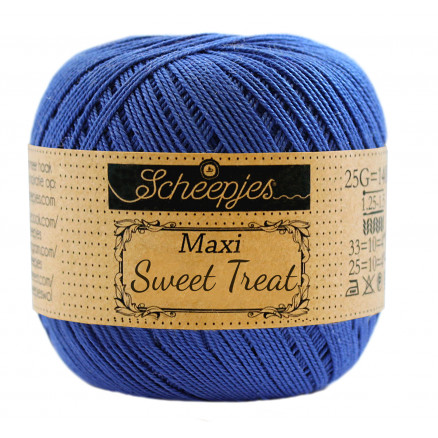 Image of   Scheepjes Maxi Sweet Treat Garn Unicolor 201 Electric Blue
