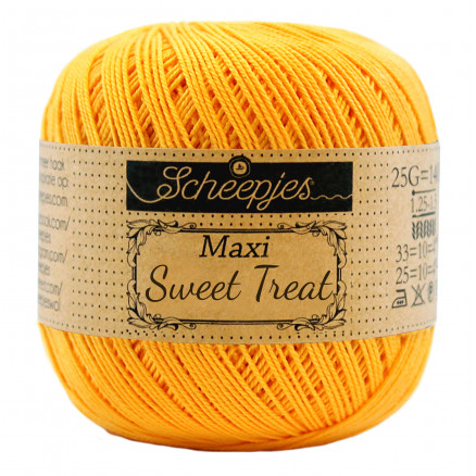 Image of   Scheepjes Maxi Sweet Treat Garn Unicolor 208 Yellow Gold