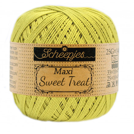 Image of   Scheepjes Maxi Sweet Treat Garn Unicolor 245 Green Yellow