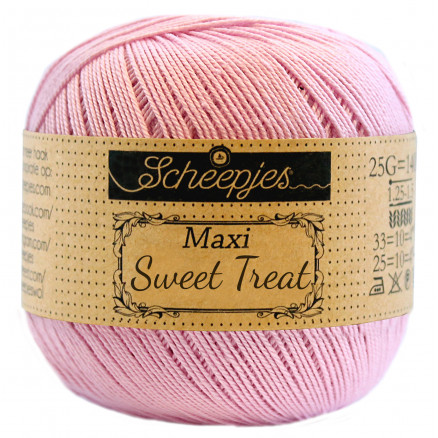 Image of   Scheepjes Maxi Sweet Treat Garn Unicolor 246 Icy Pink