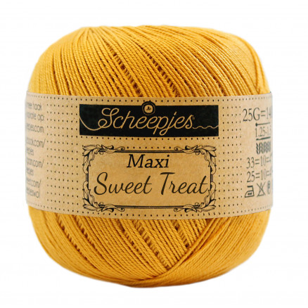 Image of   Scheepjes Maxi Sweet Treat Garn Unicolor 249 Saffron