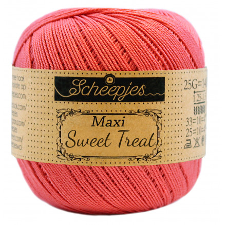 Image of   Scheepjes Maxi Sweet Treat Garn Unicolor 256 Corneli Rose
