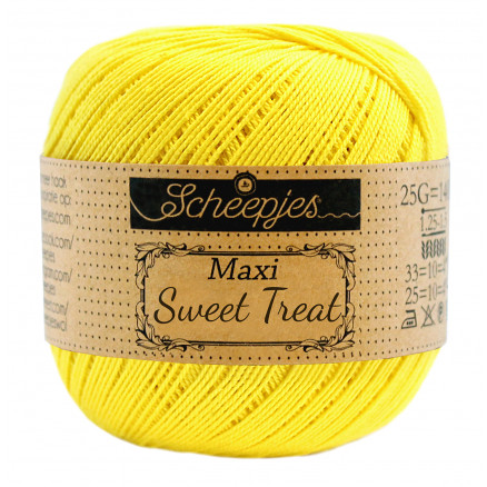 Image of   Scheepjes Maxi Sweet Treat Garn Unicolor 280 Lemon