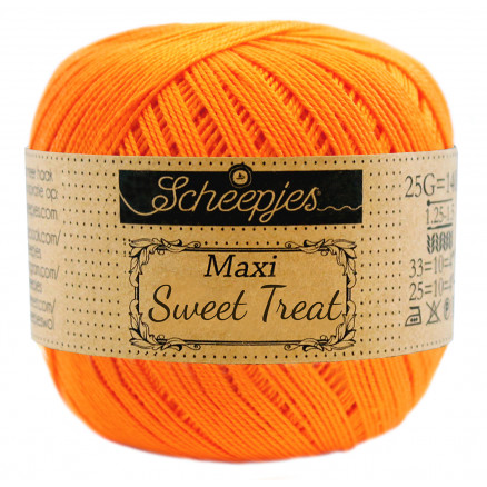 Image of   Scheepjes Maxi Sweet Treat Garn Unicolor 281 Tangerine