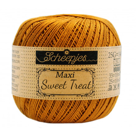 Image of   Scheepjes Maxi Sweet Treat Garn Unicolor 383 Ginger Gold