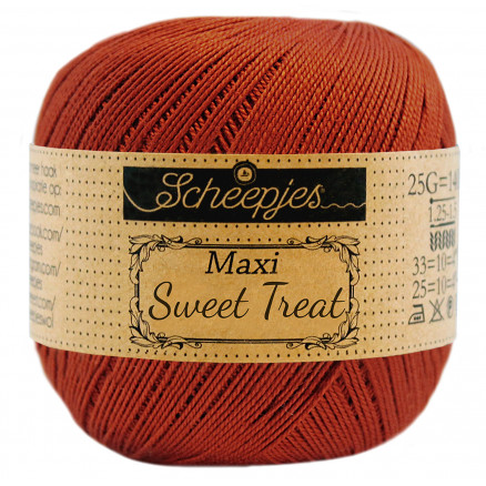 Image of   Scheepjes Maxi Sweet Treat Garn Unicolor 388 Rust