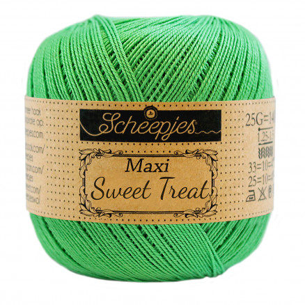 Image of   Scheepjes Maxi Sweet Treat Garn Unicolor 389 Apple Green