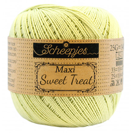 Image of   Scheepjes Maxi Sweet Treat Garn Unicolor 392 Lime Juice