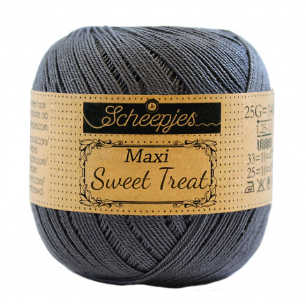 Image of   Scheepjes Maxi Sweet Treat Garn Unicolor 393 Charcoal
