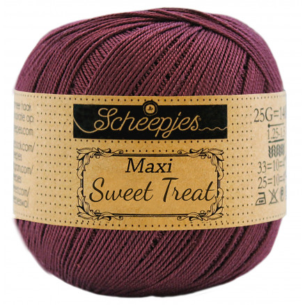 Image of   Scheepjes Maxi Sweet Treat Garn Unicolor 394 Shadow Purple