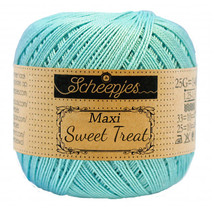 Image of   Scheepjes Maxi Sweet Treat Garn Unicolor 397 Cyan