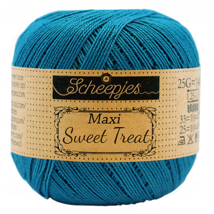 Image of   Scheepjes Maxi Sweet Treat Garn Unicolor 400 Petron Blue