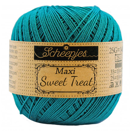 Image of   Scheepjes Maxi Sweet Treat Garn Unicolor 401 Dark Teal