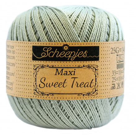 Image of   Scheepjes Maxi Sweet Treat Garn Unicolor 402 Silver Green