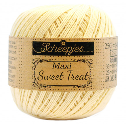 Image of   Scheepjes Maxi Sweet Treat Garn Unicolor 403 Lemonade