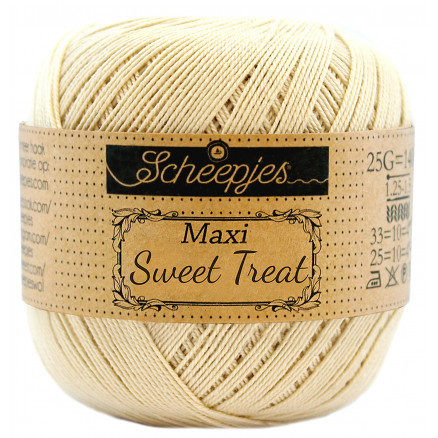 Image of   Scheepjes Maxi Sweet Treat Garn Unicolor 404 English Tea