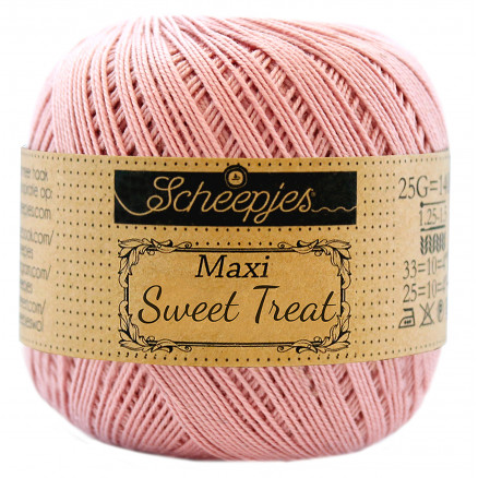 Image of   Scheepjes Maxi Sweet Treat Garn Unicolor 408 Old Rosa