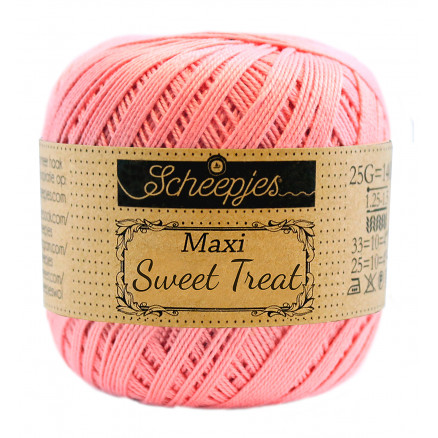 Image of   Scheepjes Maxi Sweet Treat Garn Unicolor 409 Soft Rosa
