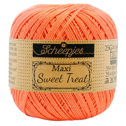 Image of   Scheepjes Maxi Sweet Treat Garn Unicolor 410 Rich Coral