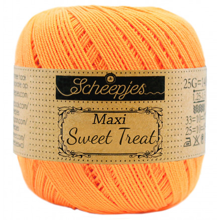 Image of   Scheepjes Maxi Sweet Treat Garn Unicolor 411 Sweet Orange