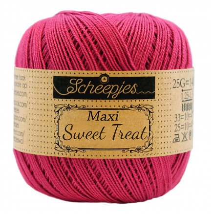 Image of   Scheepjes Maxi Sweet Treat Garn Unicolor 413 Cherry