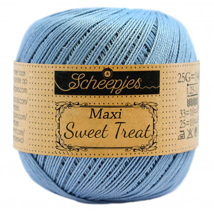 Image of   Scheepjes Maxi Sweet Treat Garn Unicolor 510 Sky Blue