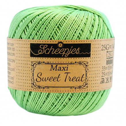 Image of   Scheepjes Maxi Sweet Treat Garn Unicolor 513 Spring Green