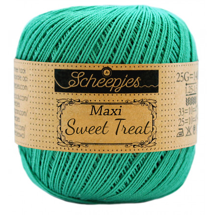 Image of   Scheepjes Maxi Sweet Treat Garn Unicolor 514 Jade